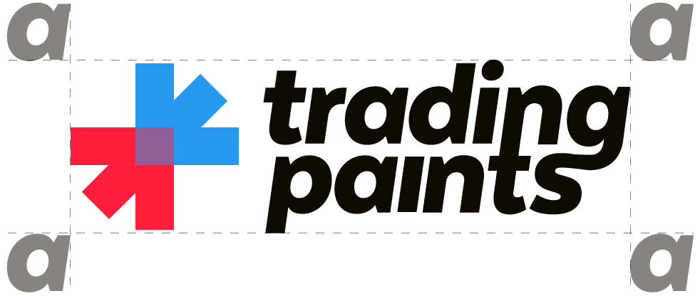 Trading Paints logo clearspace