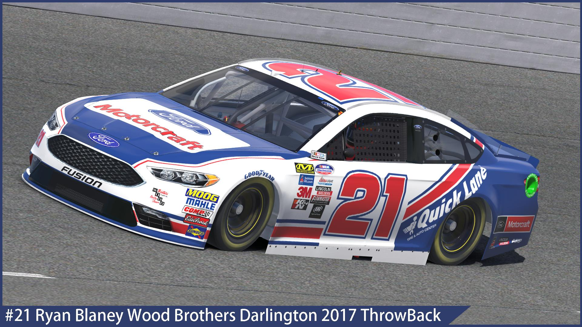 Custom Ford Fusion >> #21 Ryan Blaney Wood Brothers Racing Ford Fusion ...