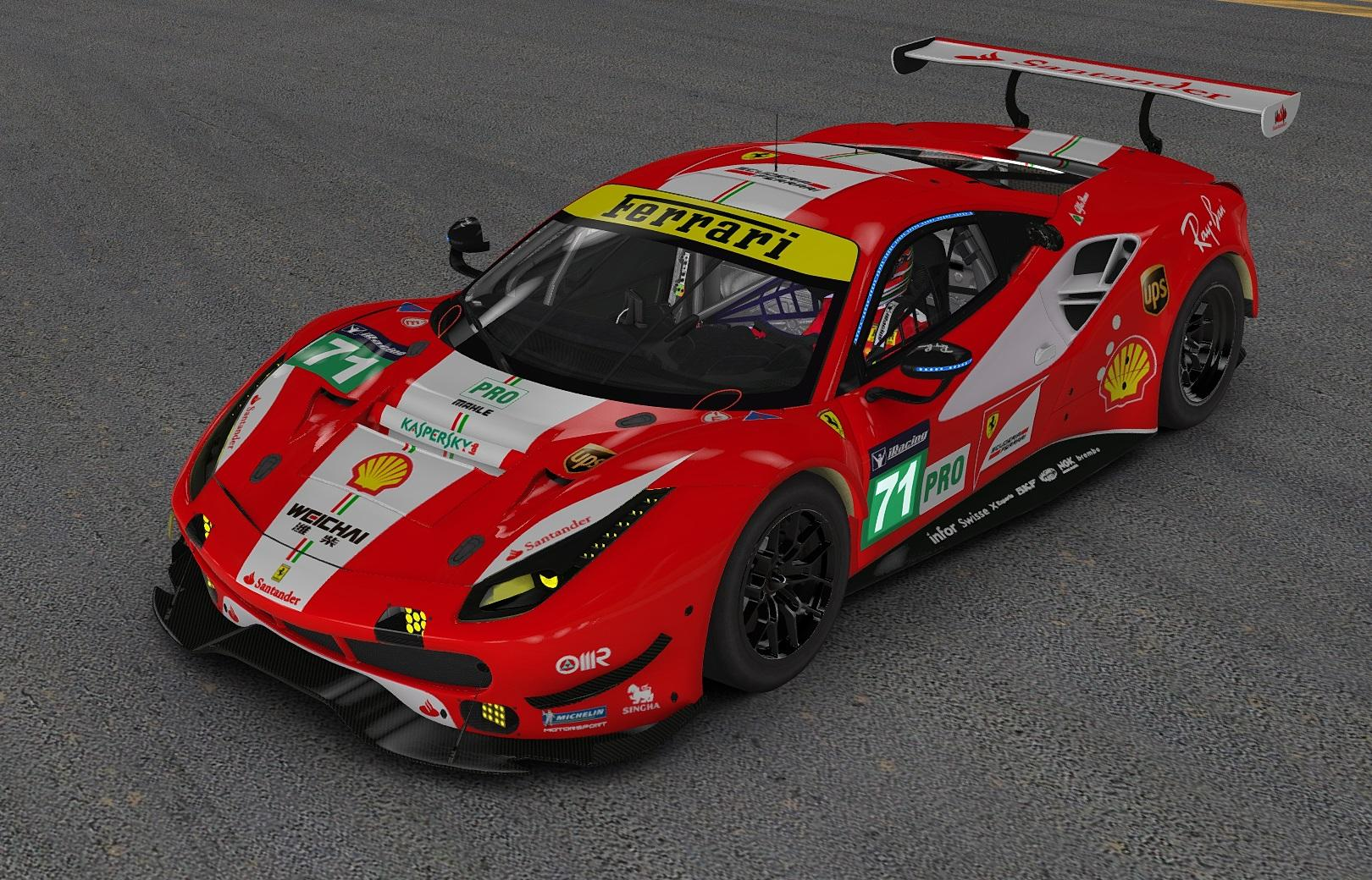 ferrari 488 gte by john paquin trading paints. Black Bedroom Furniture Sets. Home Design Ideas