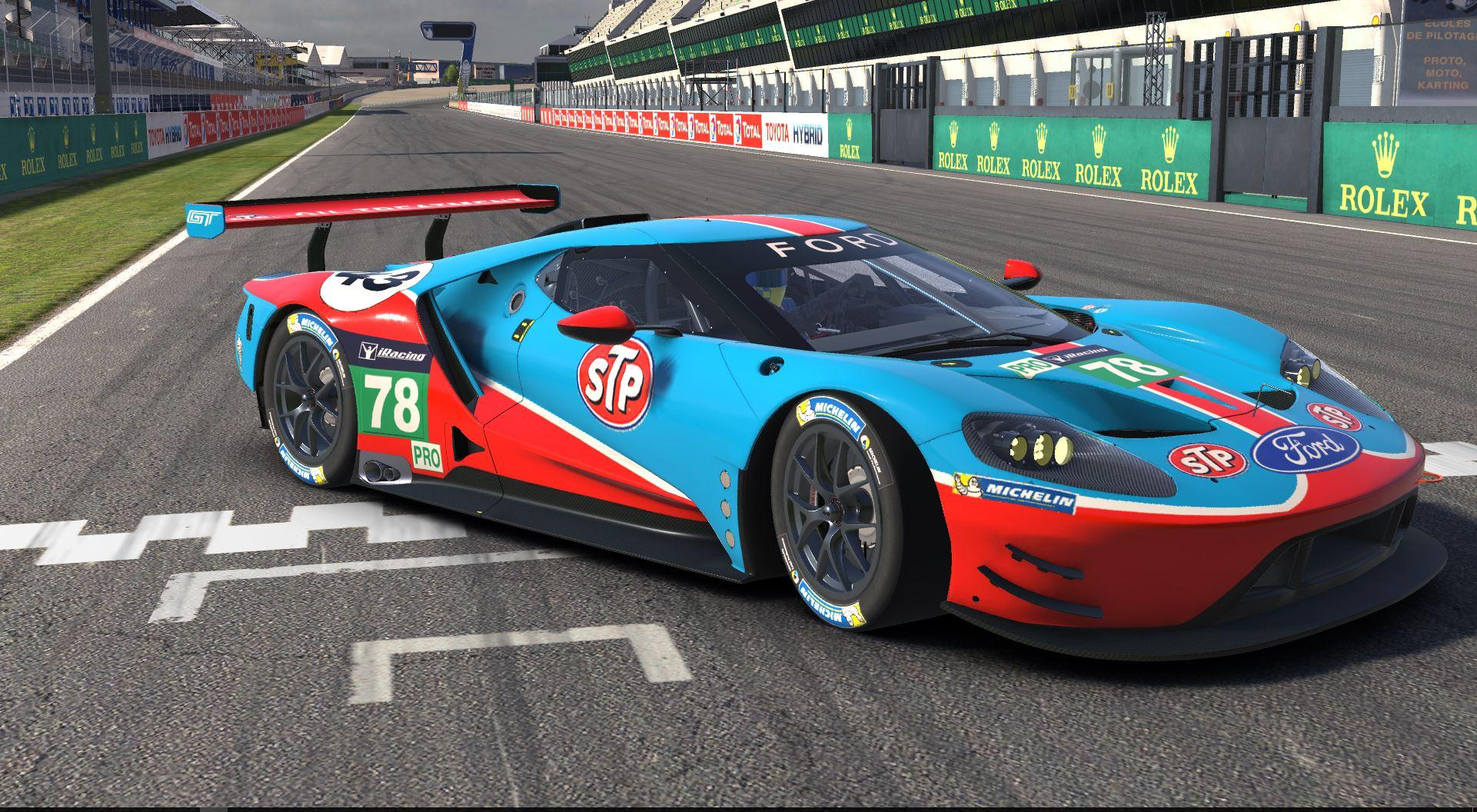 Stp Richard Petty Colors Ford Gt  By Andrew Fawcett Pro