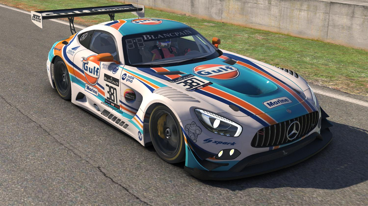gulf marine mercedes amg gt3 by warren mcgary trading paints. Black Bedroom Furniture Sets. Home Design Ideas