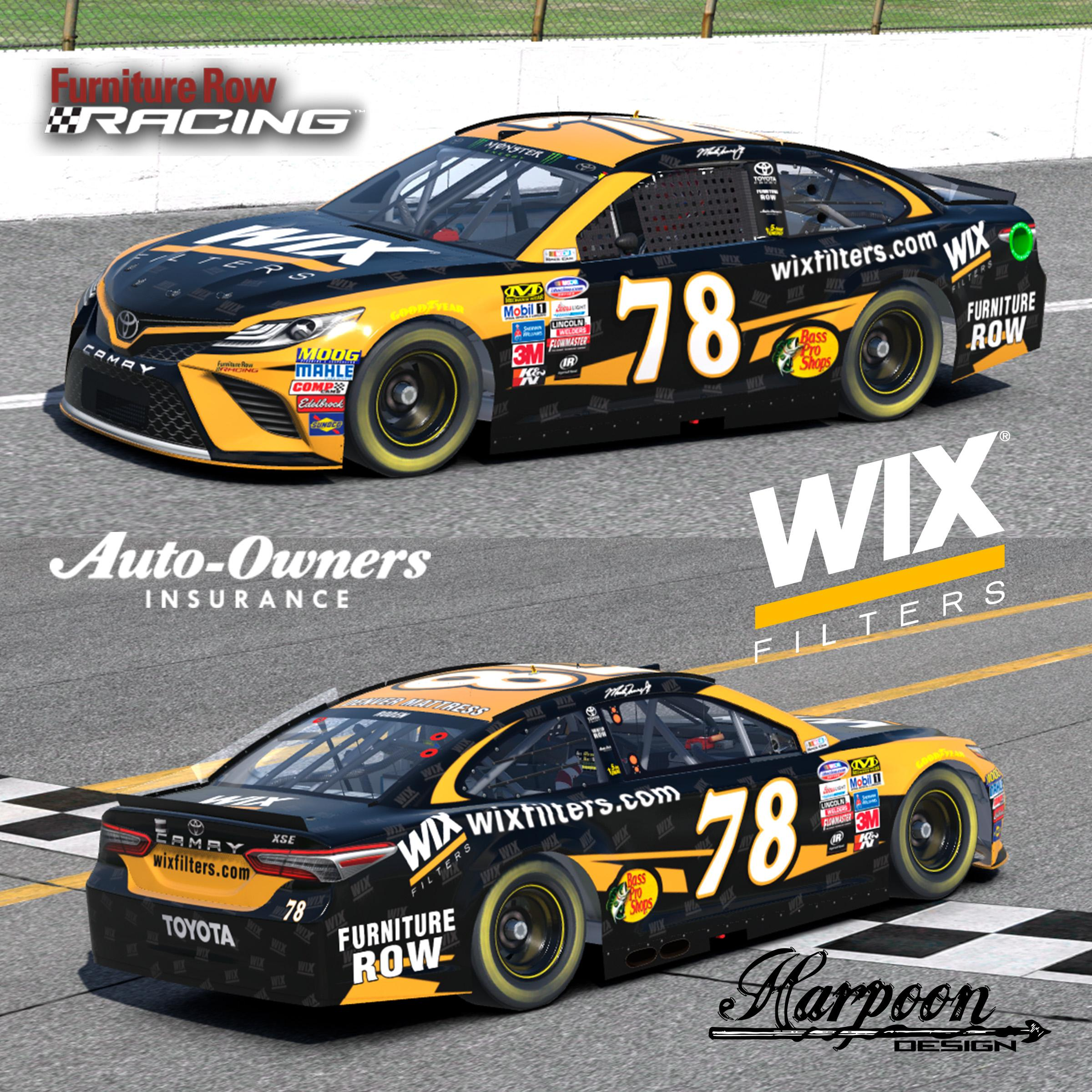 2017 Martin Truex Jr. Wix Camry by Brantley Roden ...