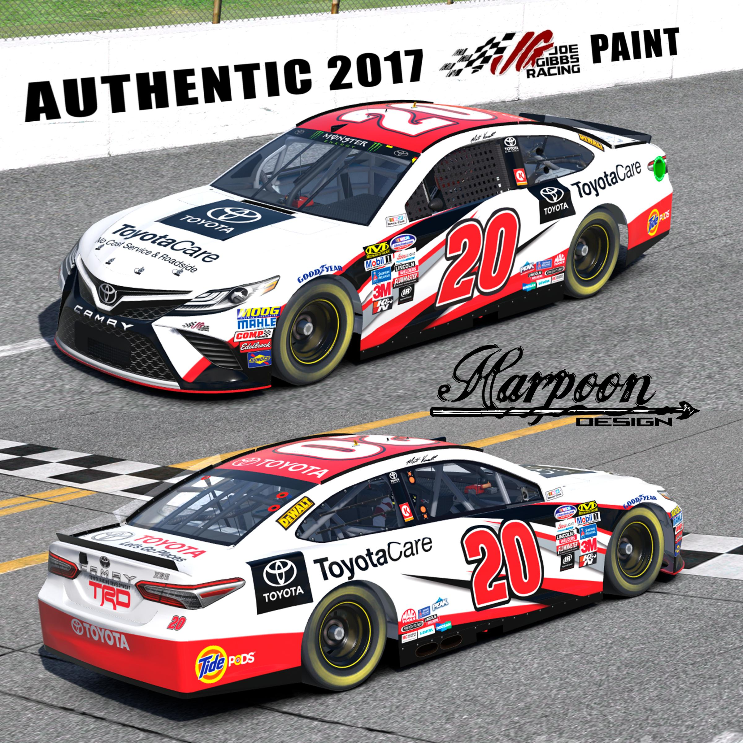 2017 JGR Authentic Matt Kenseth Toyota Care Camry (white) NASCAR Monster  Energy Cup Toyota Camry By Brantley Roden PRO