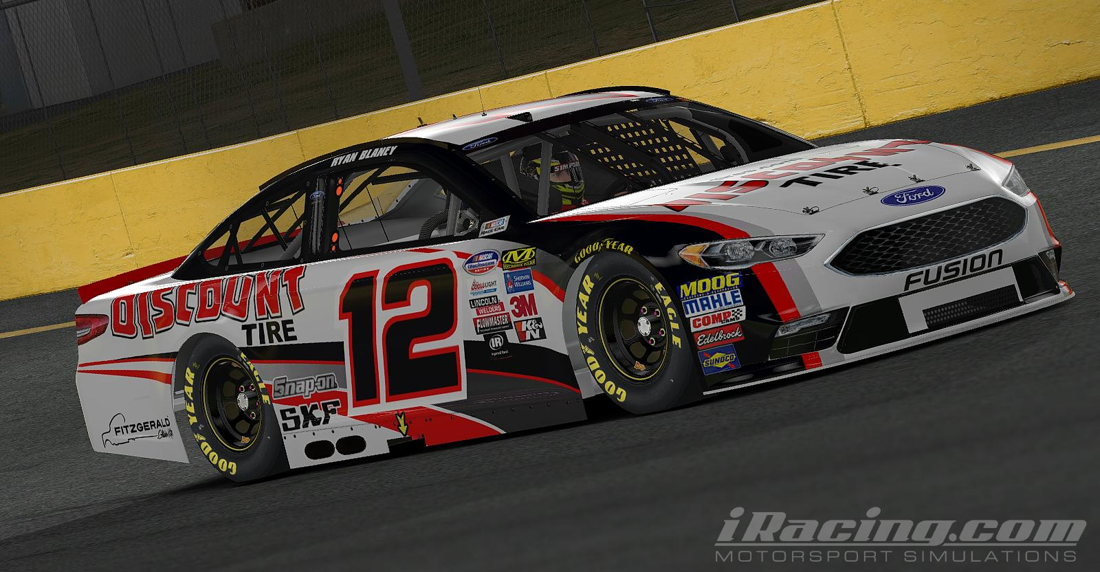 Preview of 2018 Ryan Blaney Discount Tire Ford Fusion by Tanner Tallarico