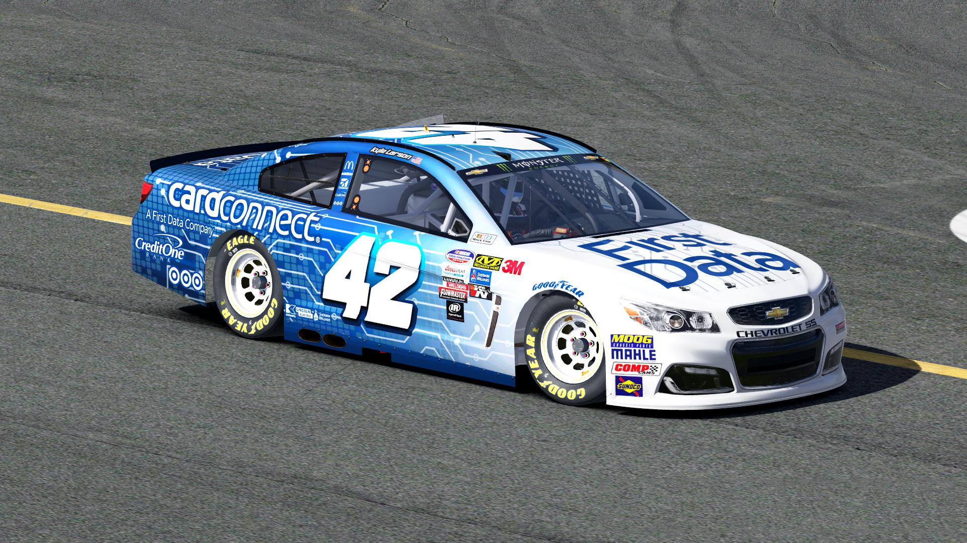 Kyle Larson First Data NASCAR Monster Energy Cup Chevrolet SS By Zach Rader