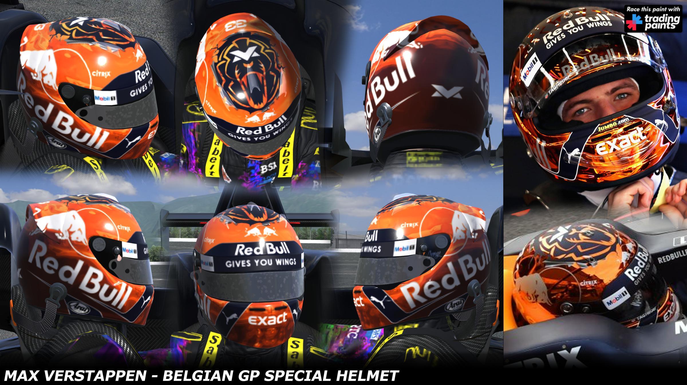 Max Verstappen Belgian Gp 2017 Special Edition Helmet By