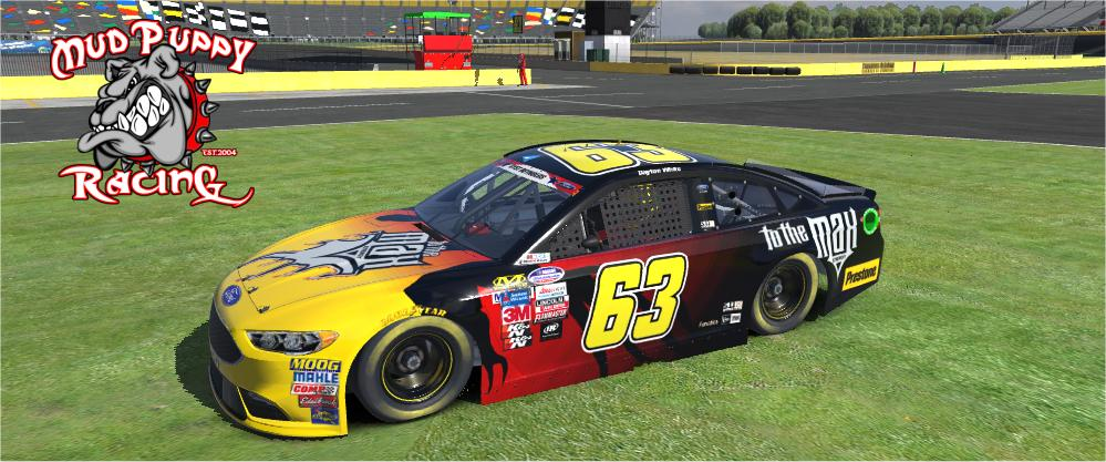 Logan Lucky 63 Ford Fusion By Cody Sider Trading Paints