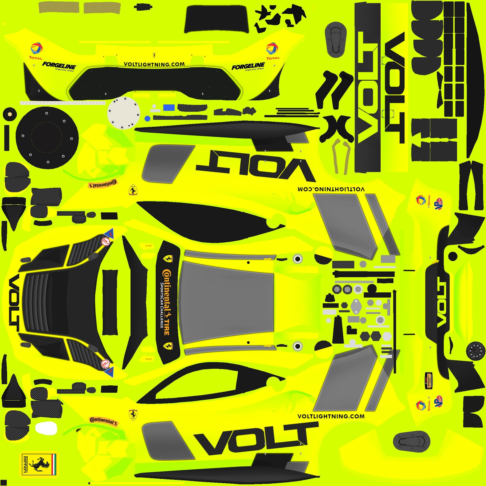 Preview of VOLT Racing Ferrari 488 GT3 (Fictional) by Justin S Davis