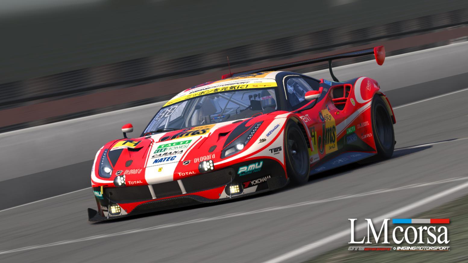Preview of #51 JMS LM Corsa Ferrari 488 GT3 (Super GT) by Justin S Davis