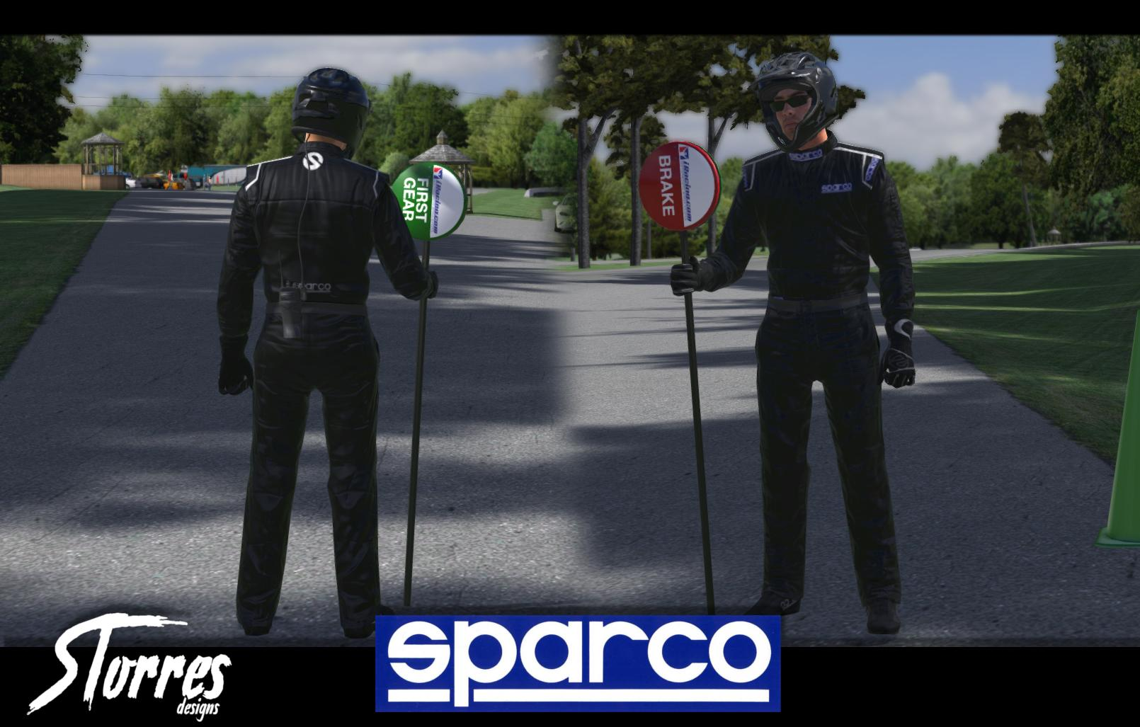 Preview of Black SPARCO Suit by Samuel Torres Fernández