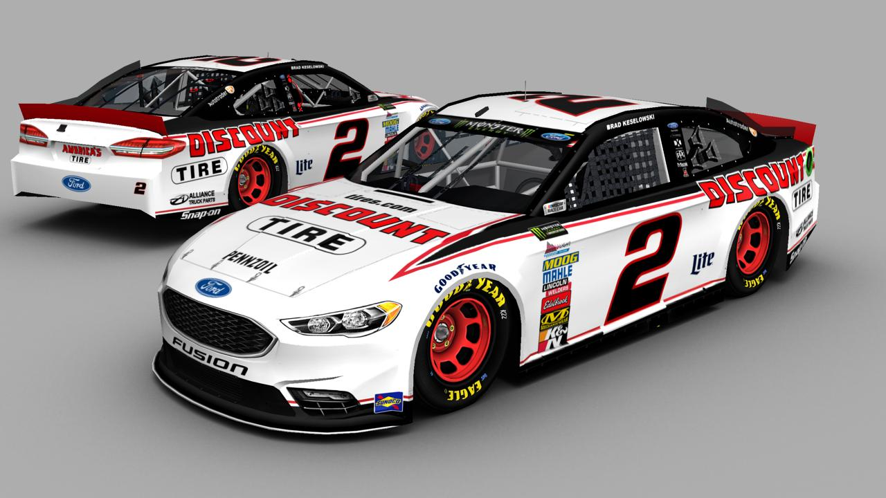 Discount Tire Nascar >> Brad Keselowski 2018 #2 Discount Tire Ford Fusion by Brayden Hill - Trading Paints
