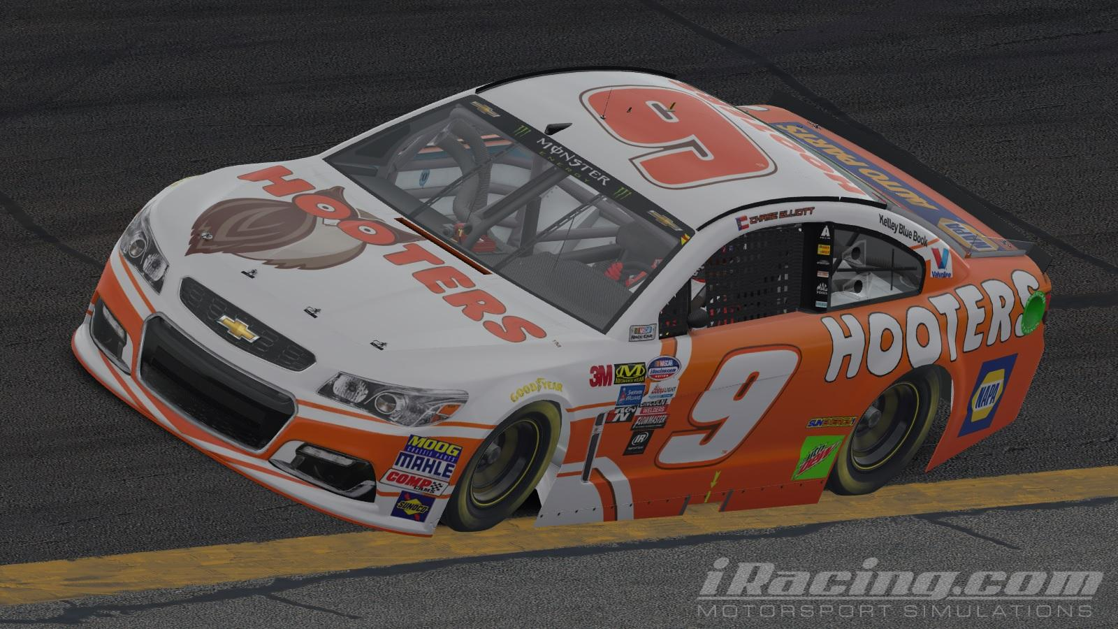 Preview of Chase Elliott Hooters 2018 by Will Norton