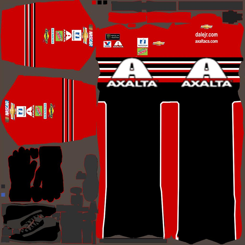 Preview of Dale Jr Budweiser throwback Axalta fire suit by Quinn Johnston