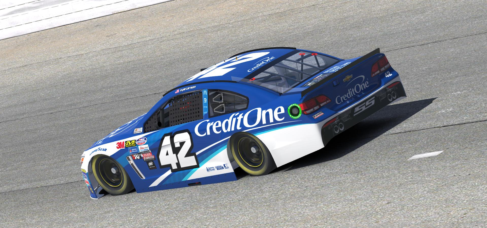 Preview of 2018 Kyle Larson Credit One Bank Chevy by Doug DeNise
