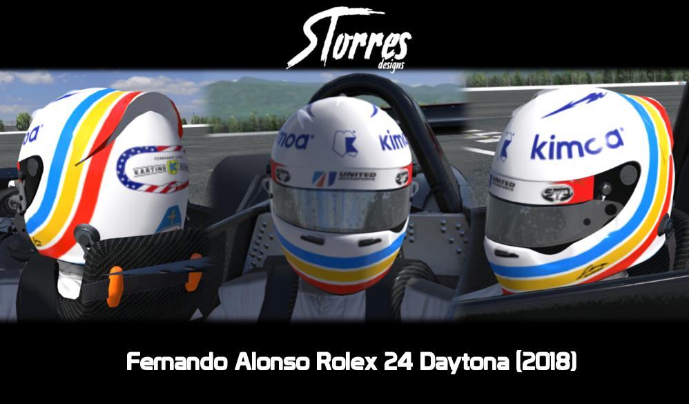 Preview of Fernando Alonso 24H Daytona Replica helmet by Samuel Torres Fernández