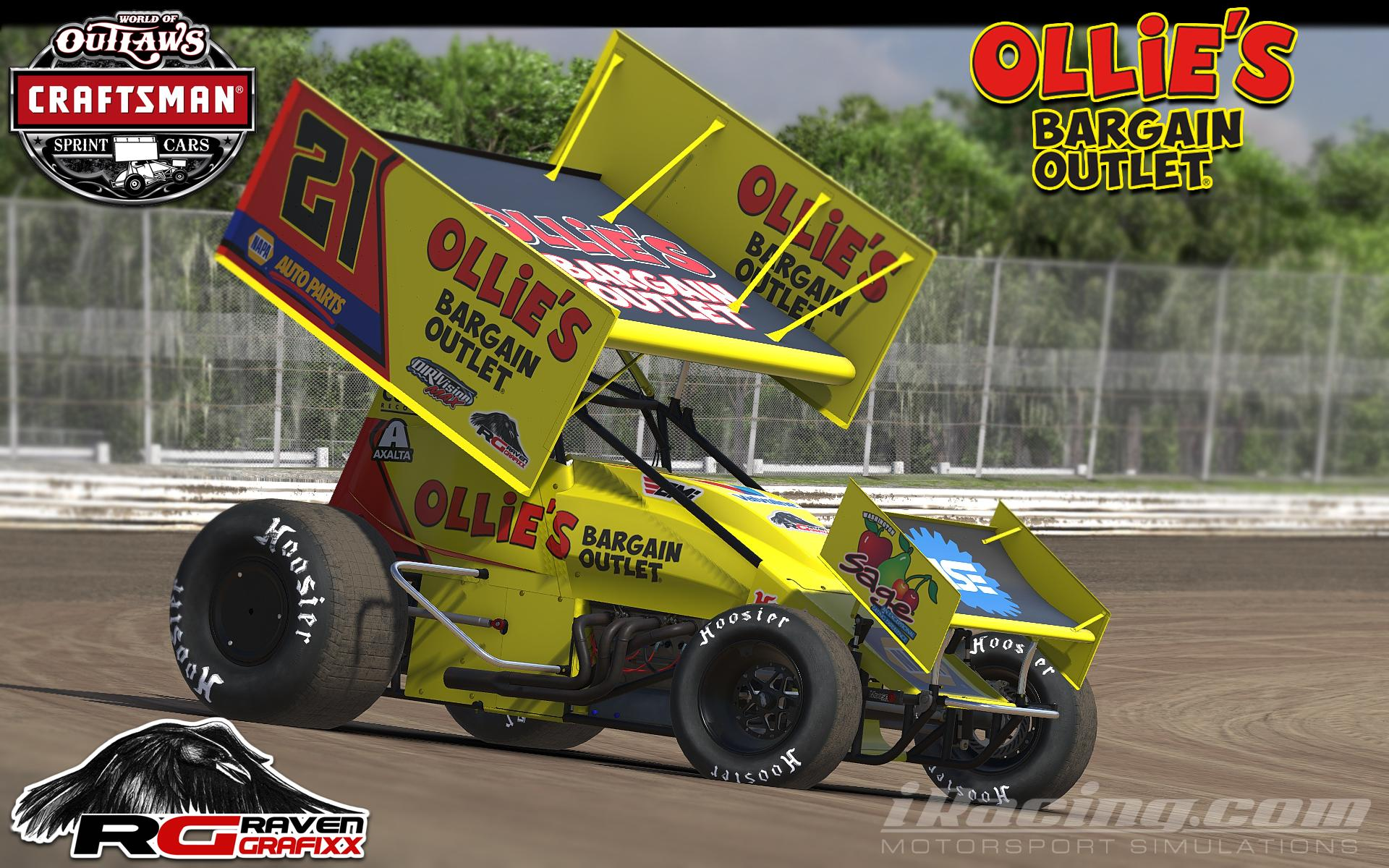 Ollies dirt sprint by doyle lowrance trading paints for Dirt track race car paint schemes