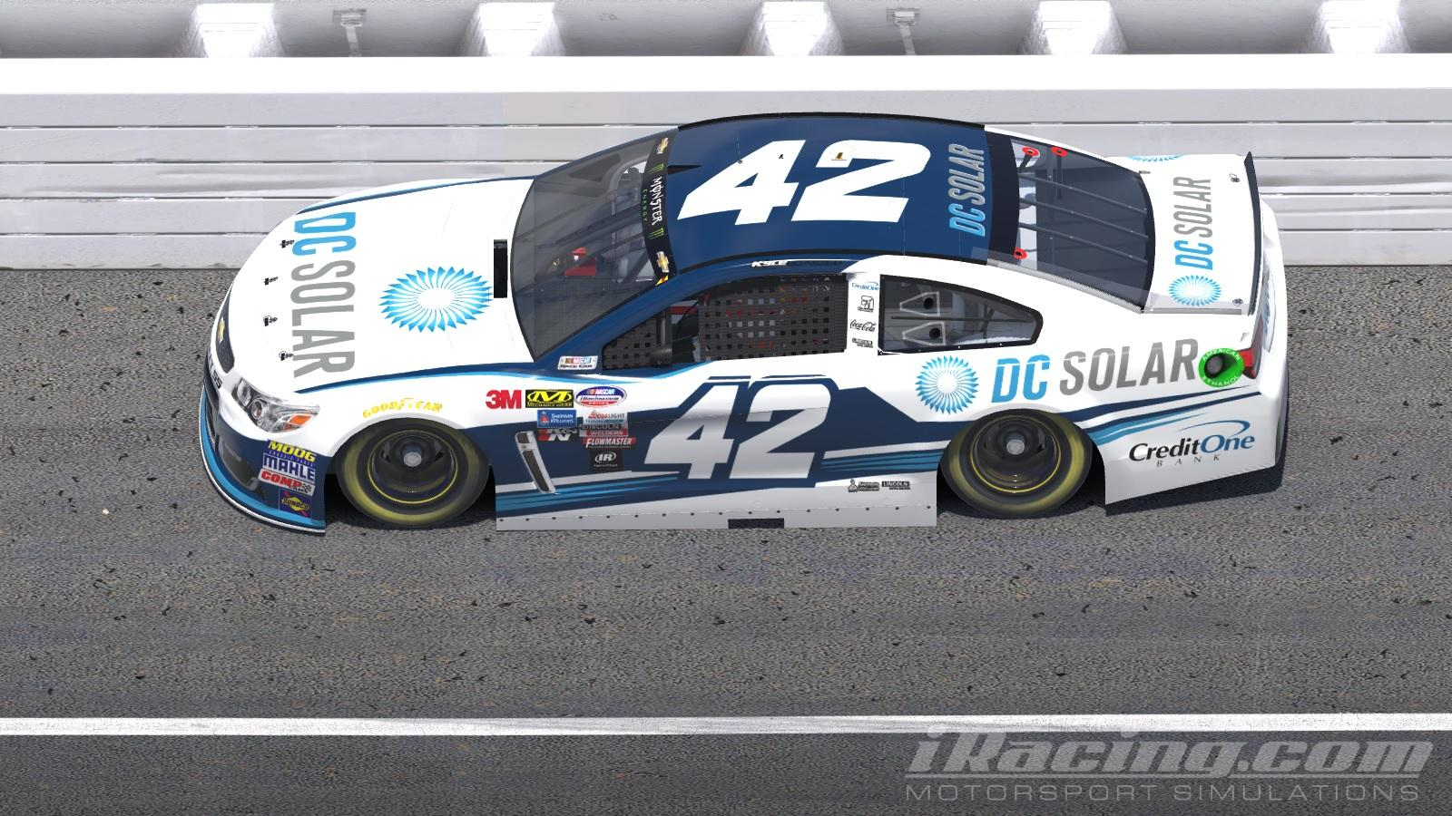 Kyle Larson 2018 DC Solar Chevy SS NASCAR Monster Energy Cup Chevrolet By Will Norton