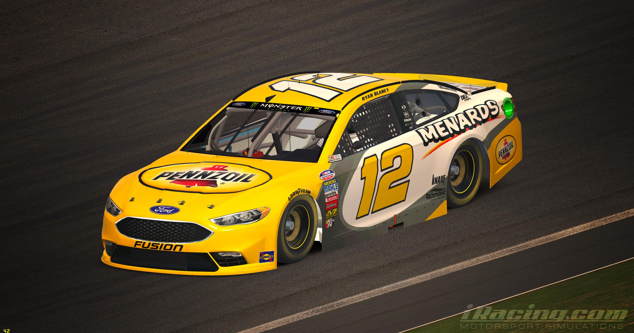 Preview of Ryan Blaney 2018 Pennzoil by Tyler King