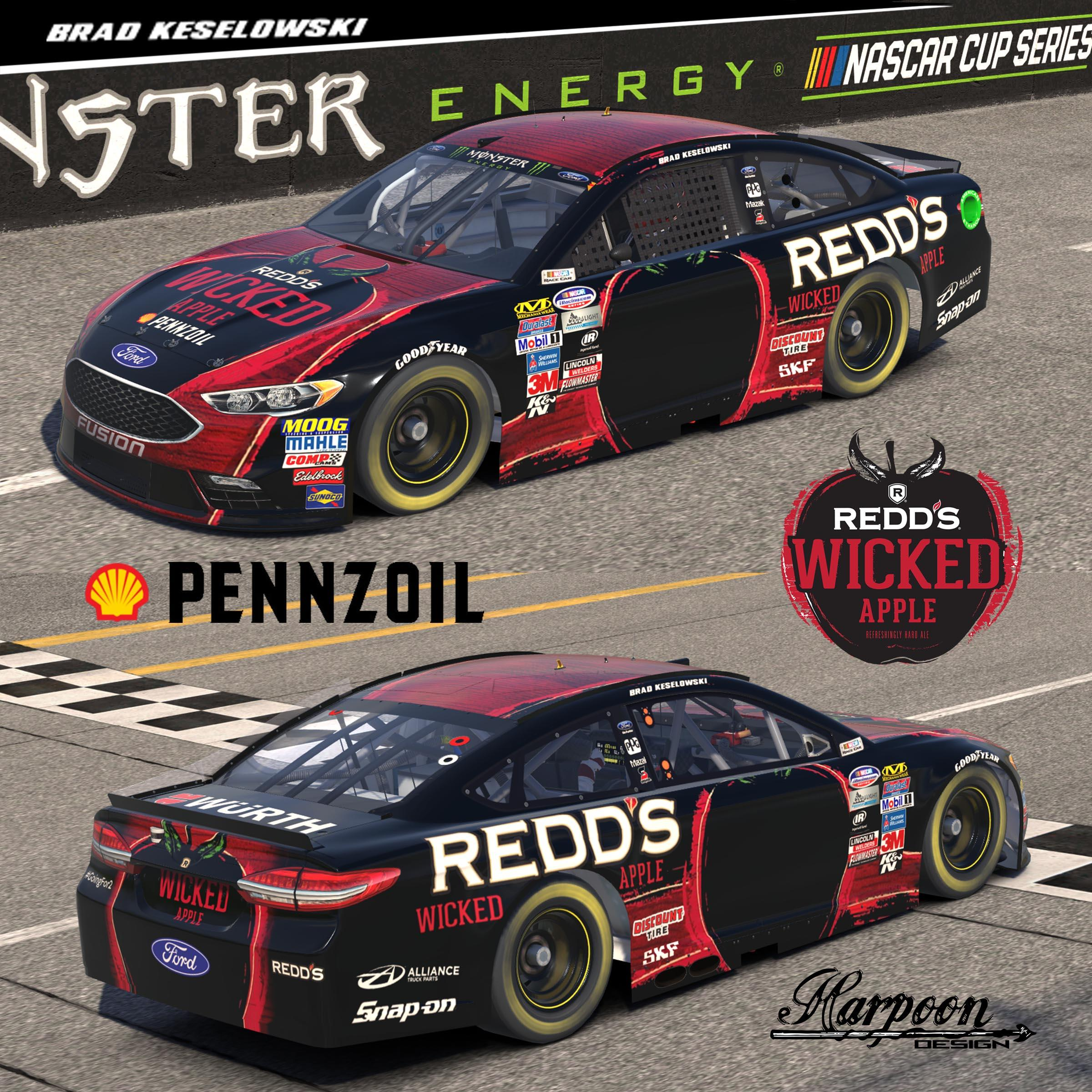 Preview of 2014 Brad Keselowski Reds Wicked Apple Fusion by Brantley Roden