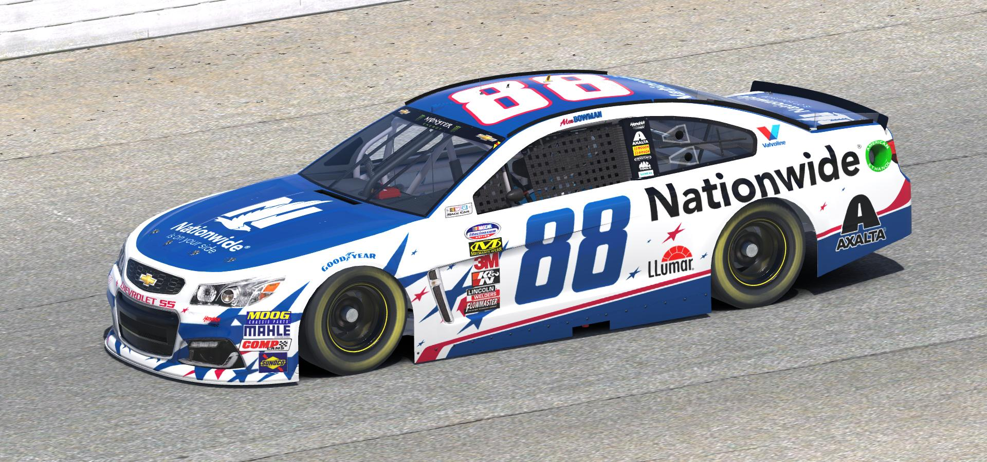 Preview of 2018 Alex Bowman Nationwide Coca Cola 600 Car by Doug DeNise