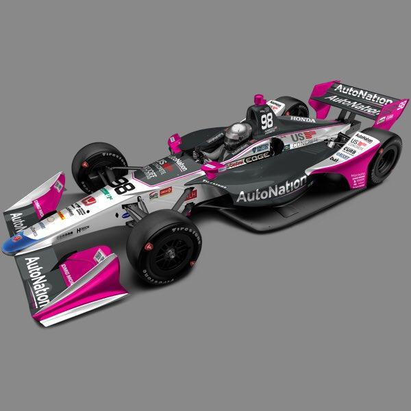 Preview of Marco Andretti #98 AutoNation Indycar 2018 by Ryan Broderick