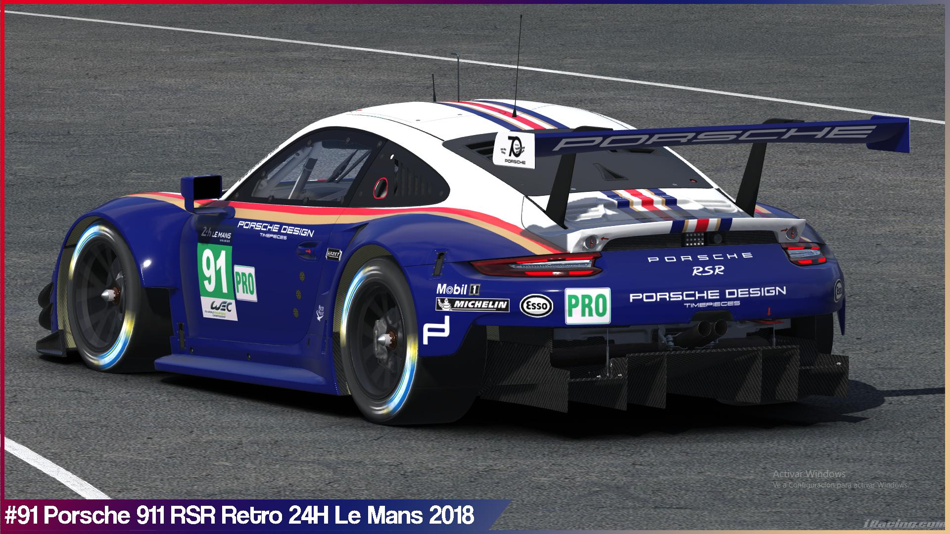 91 porsche retro 24h le mans 2018 by sergio hernando trading paints. Black Bedroom Furniture Sets. Home Design Ideas