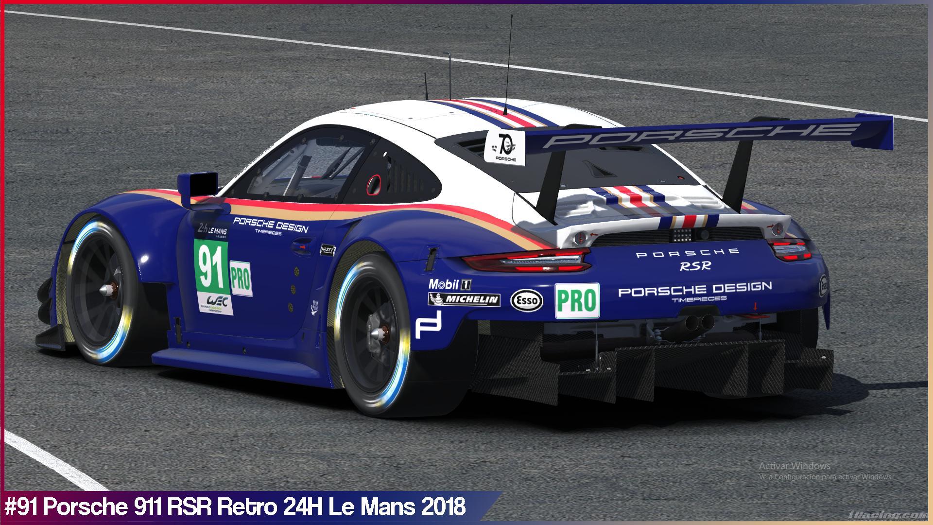 Preview of #91 Porsche Retro 24H Le Mans 2018 by Sergio Hernando
