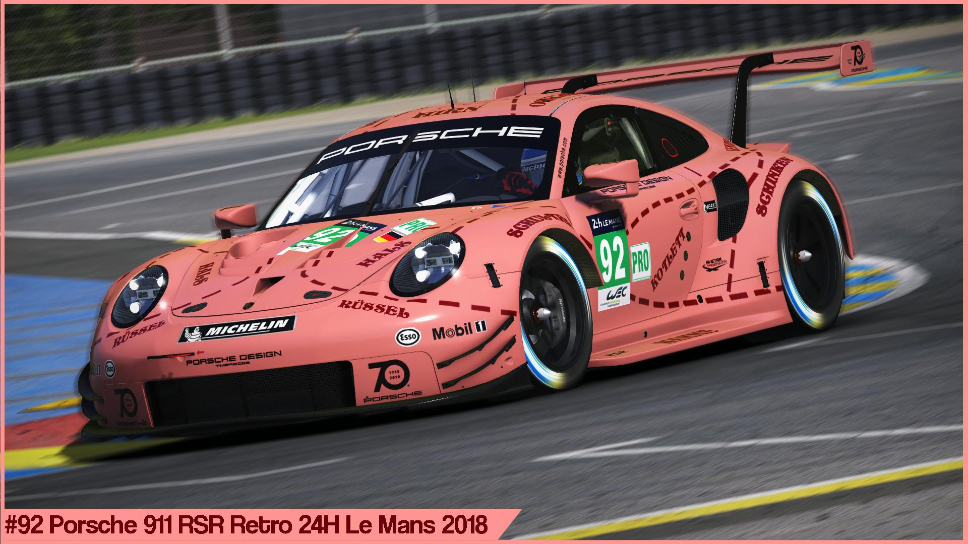 92 porsche retro 24h le mans 2018 by sergio hernando trading paints. Black Bedroom Furniture Sets. Home Design Ideas
