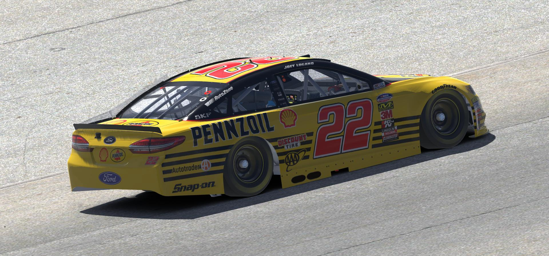 Preview of 2018 Joey Logano Shell Pennzoil Darlington Throwback Fusion by Doug DeNise