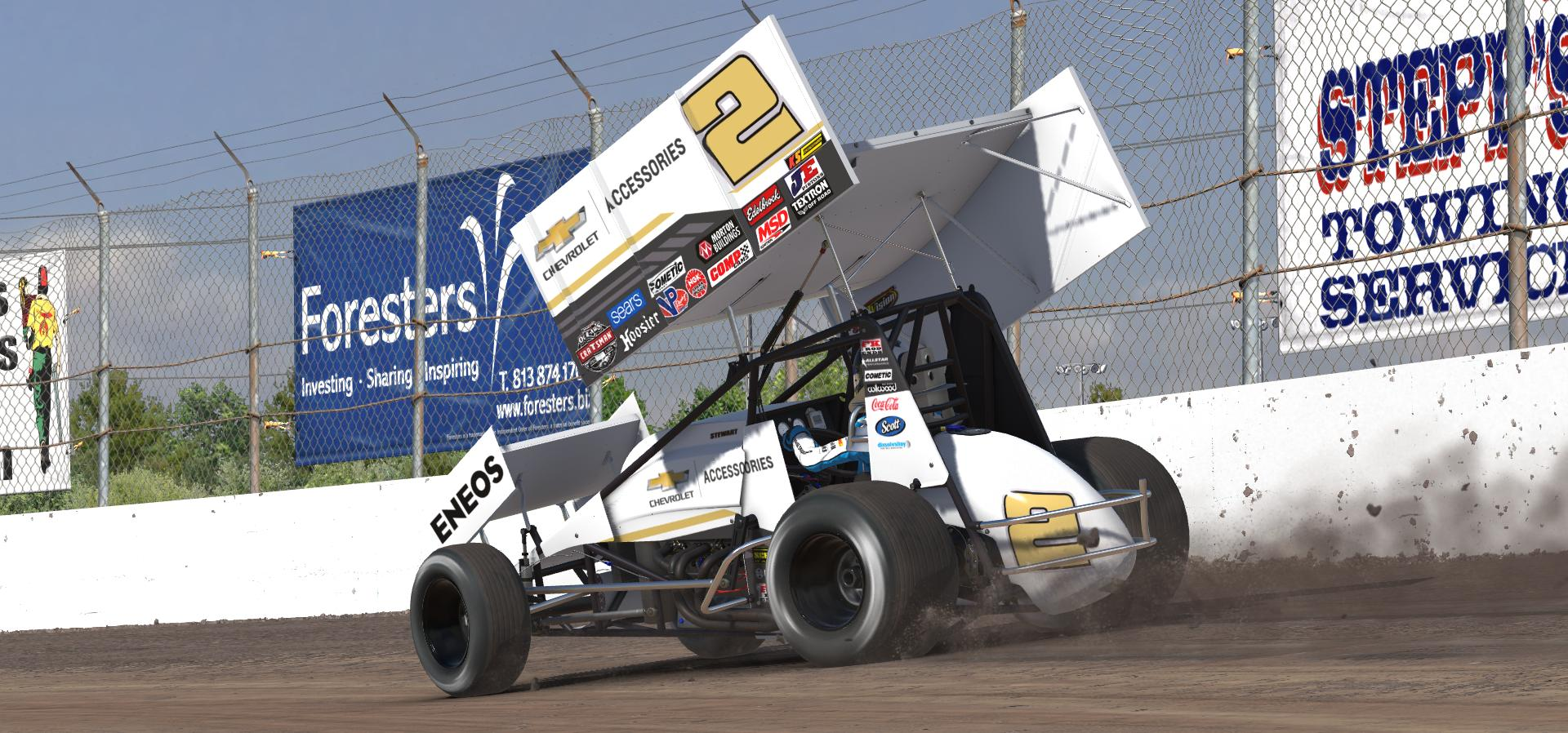 Preview of 2018 Shane Stewart Chevrolet Accessories Dirt Sprint Car by Doug DeNise