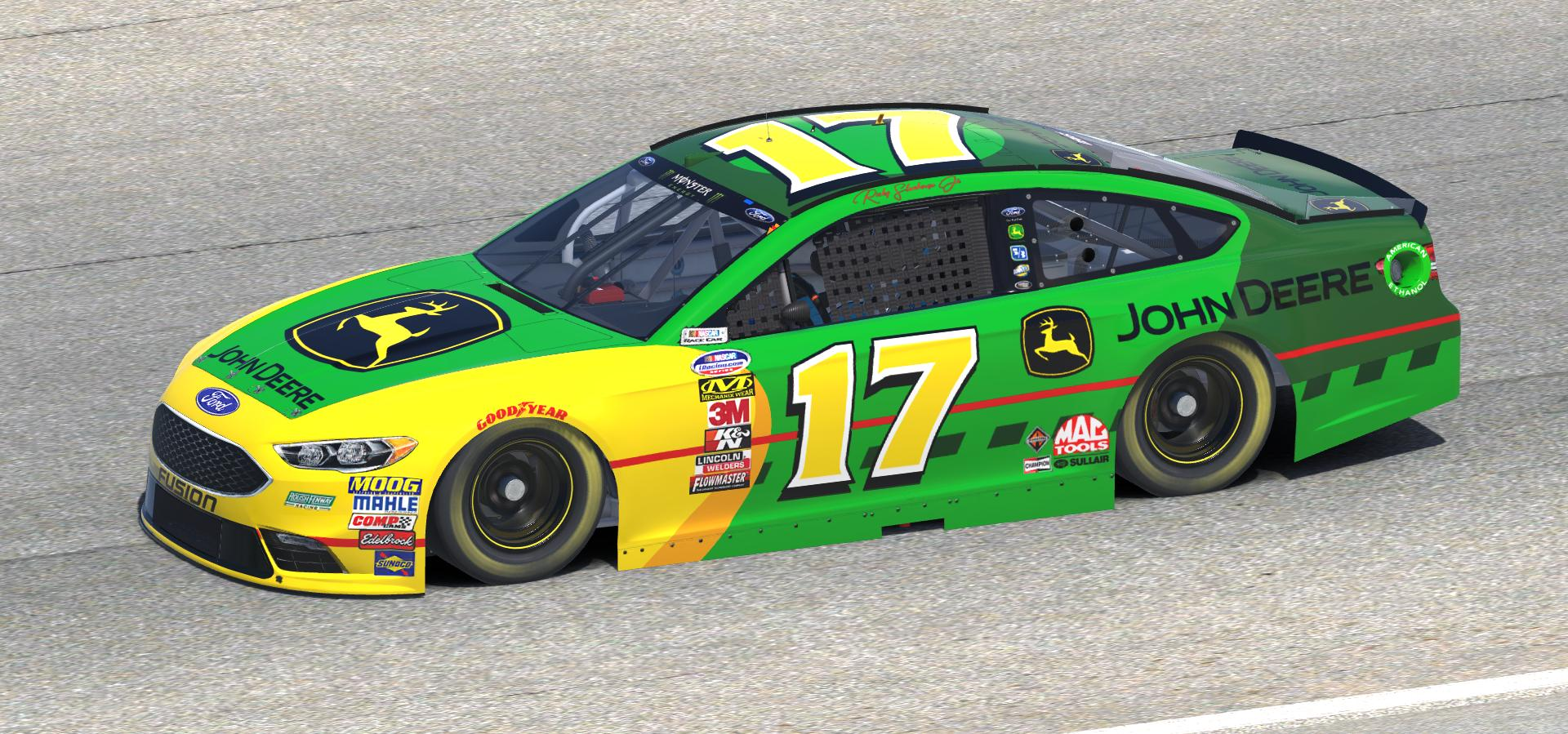 2018 ricky stenhouse john deere throwback fusion by doug. Black Bedroom Furniture Sets. Home Design Ideas