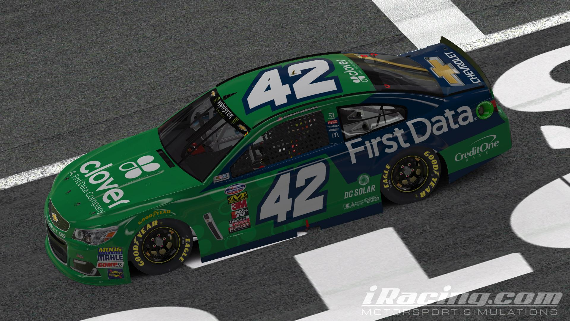 Clover / First Data Chevy by Trey Eidson - Trading Paints