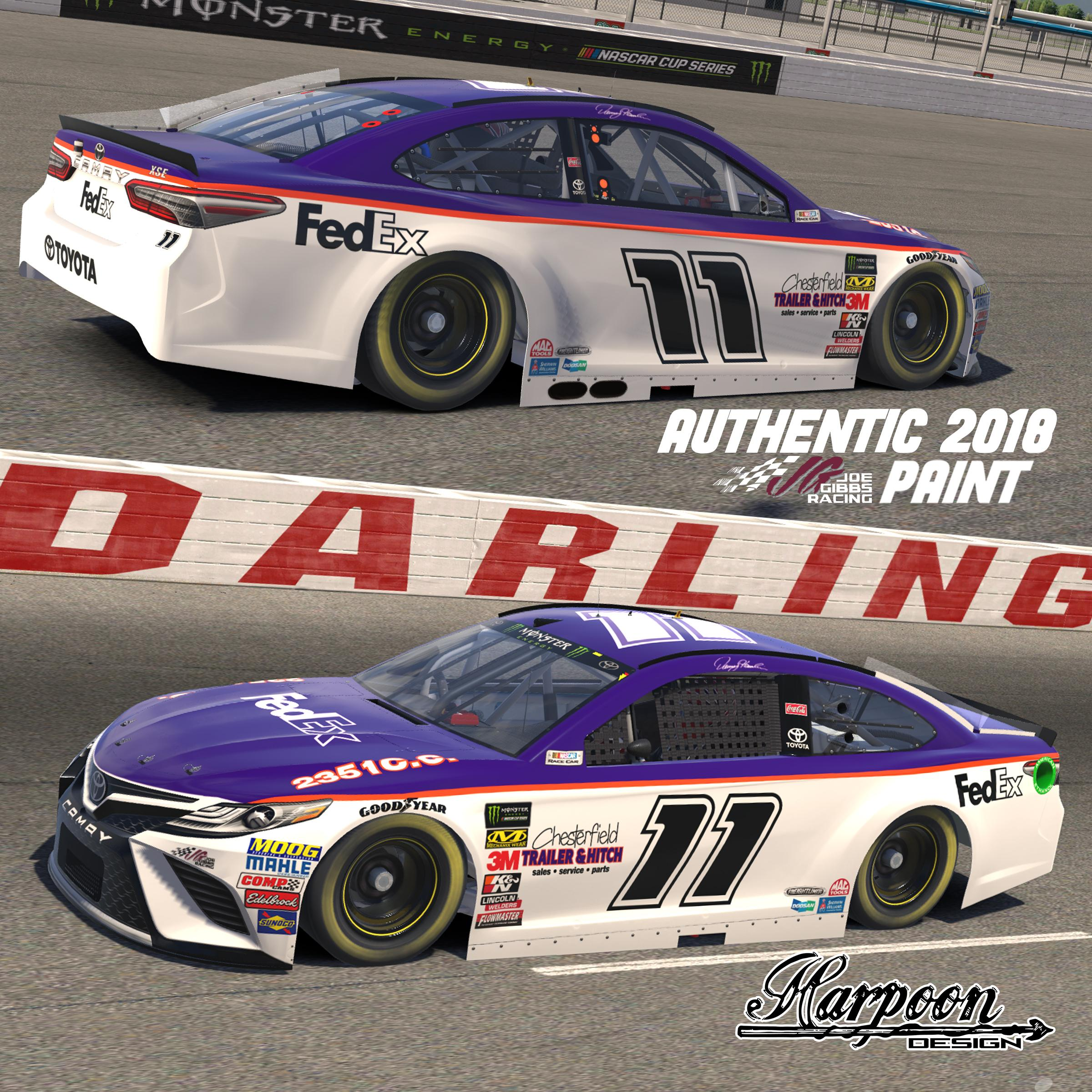 Preview of 2018 Denny Hamlin Darlington Throwback DECAL LAYER (*READ DESCRIPTION CAREFULLY*) by Brantley Roden