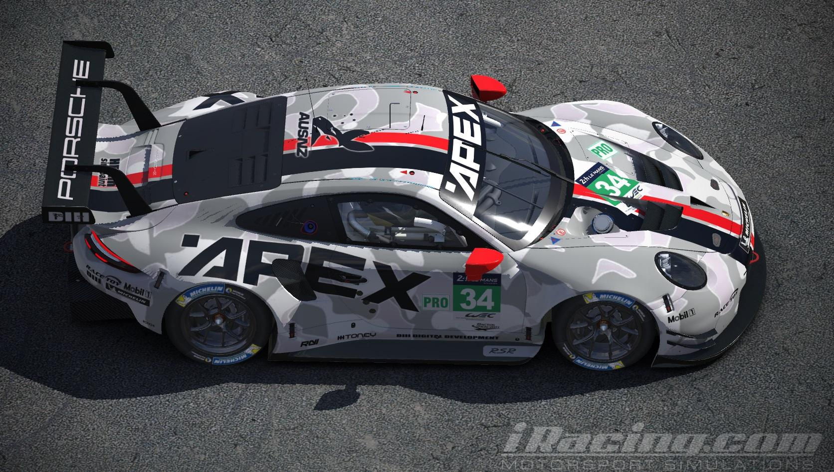 Preview of (Fictional) Porsche 991 RSR GTE Class Apex Design Livery by David M.