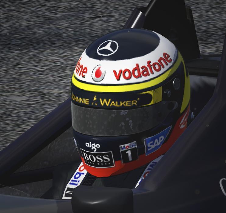 Preview of Pedro de la Rosa - Helmet by Eugenio Stanislav
