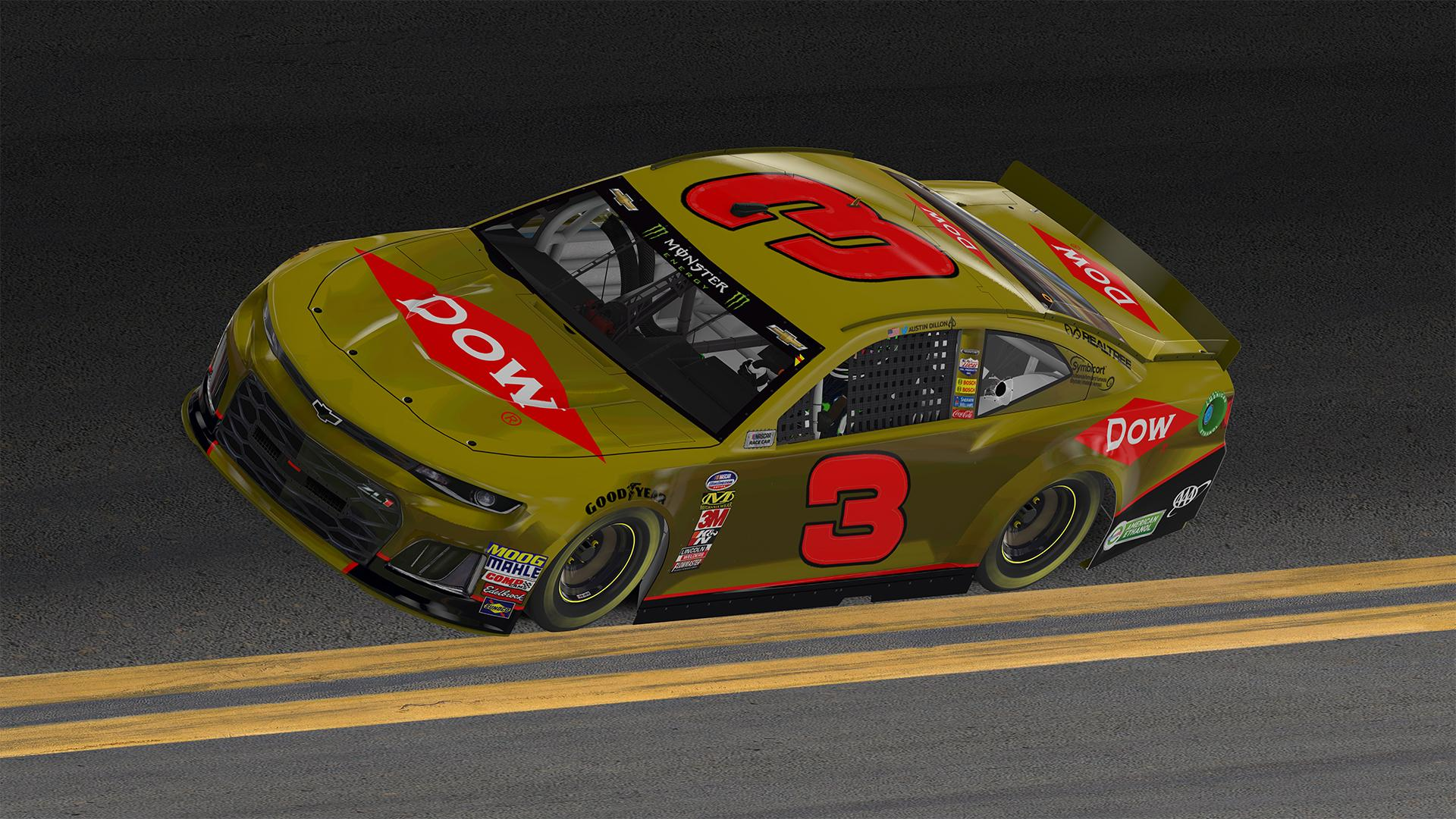 2019 Dow Austin Dillon Daytona 500 Car By Justin Bland