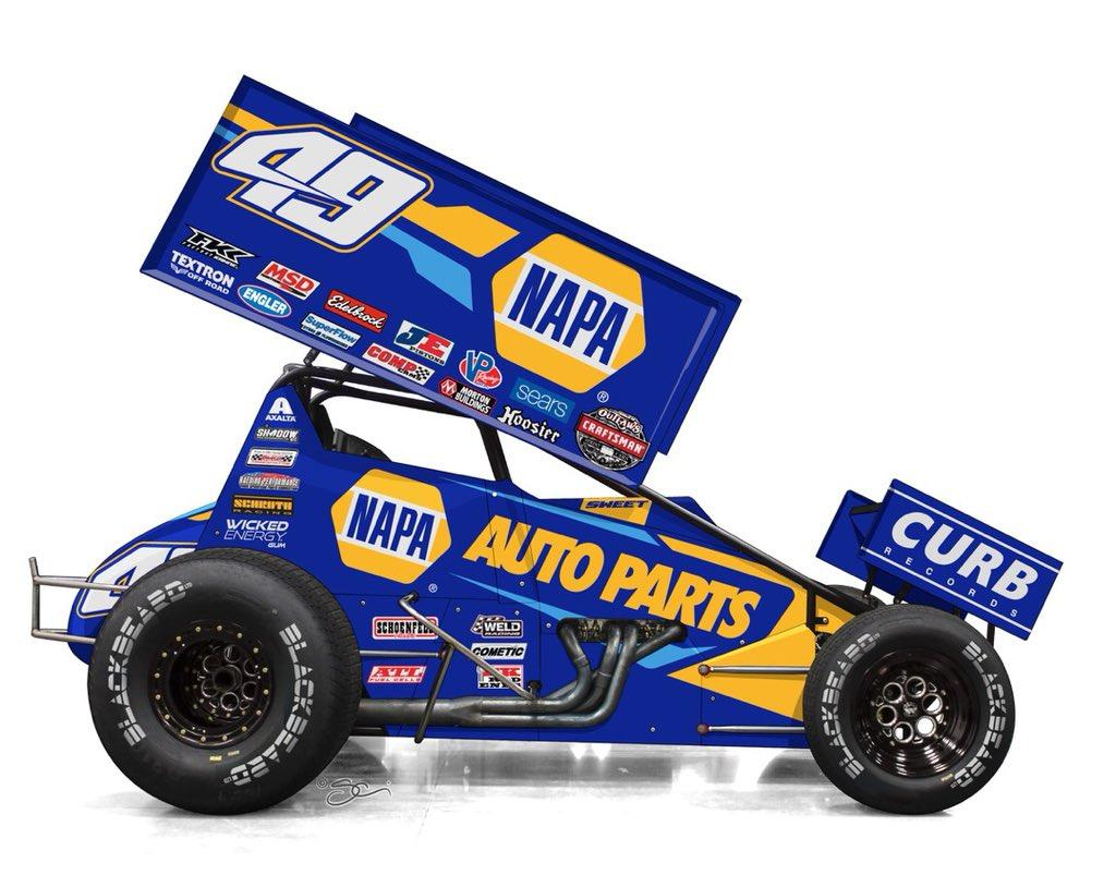 Brad Sweet 49 Napa Auto Parts 2019 World Of Outlaws By