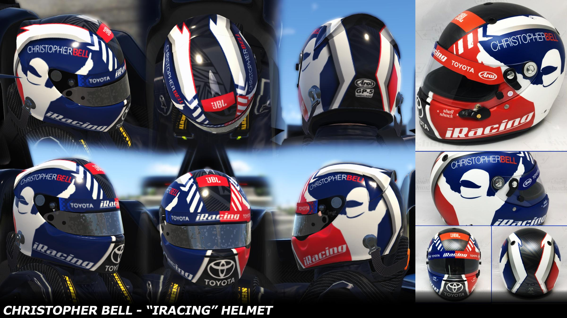 Bell Racing Helmets >> Christopher Bell - iRacing Chili Bowl Helmet 2019 by ...