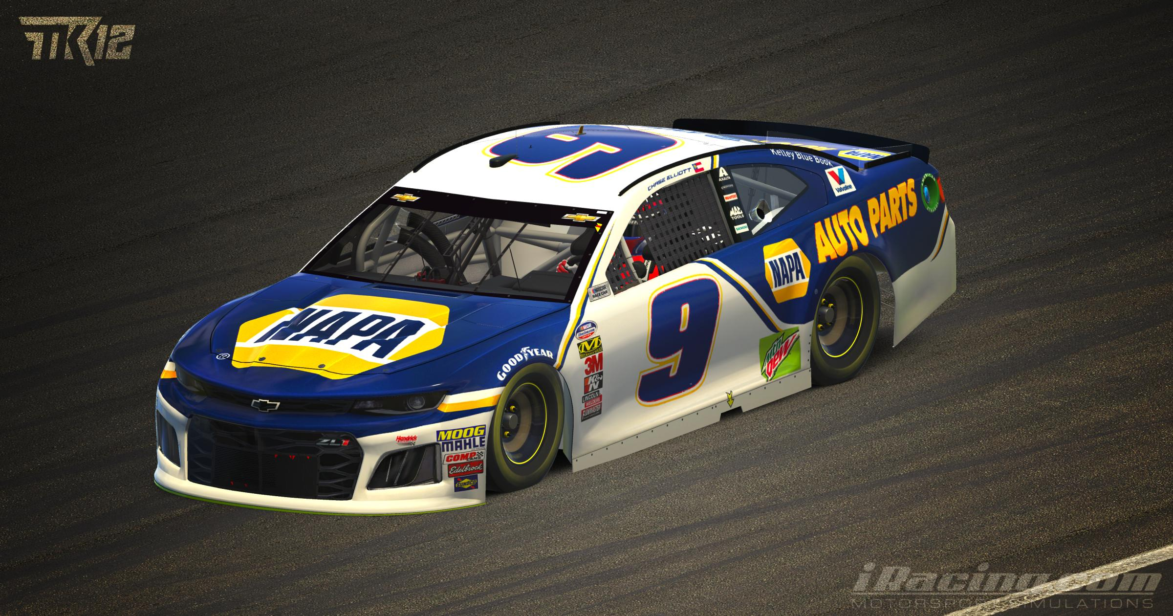Chase Elliott 2019 Napa Auto Parts Zl1 By Tyler King Trading Paints