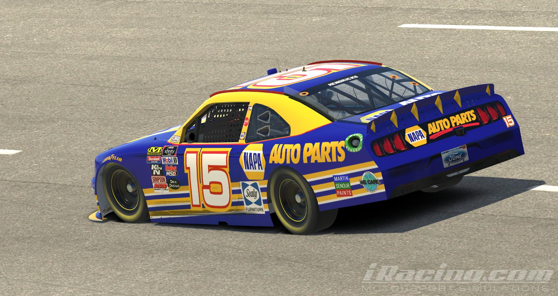 Xfinity Mustang Michael Waltrip 2001 Napa Paint Scheme by Davie