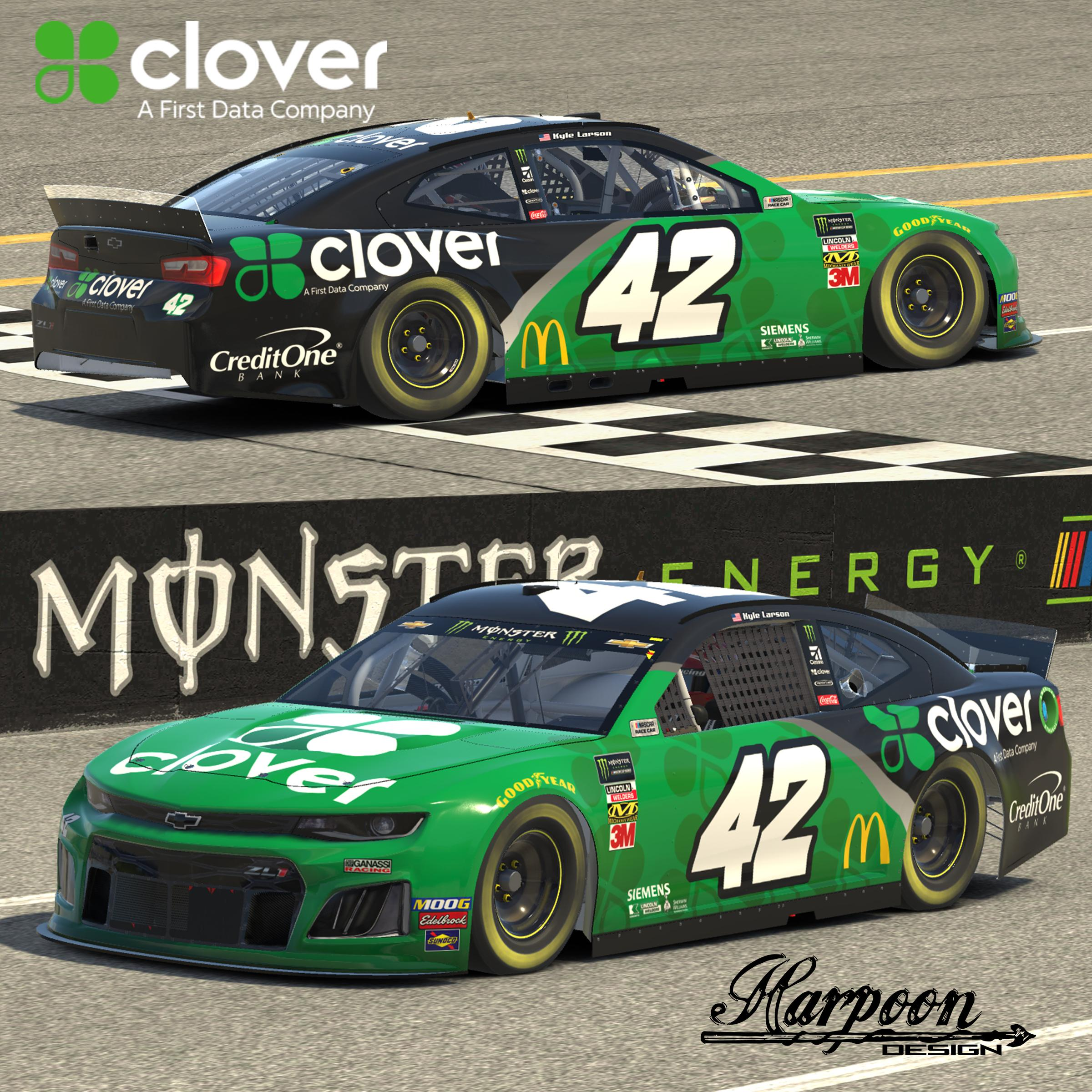 Preview of 2019 Kyle Larson First Data Clover Camaro no num by Brantley Roden