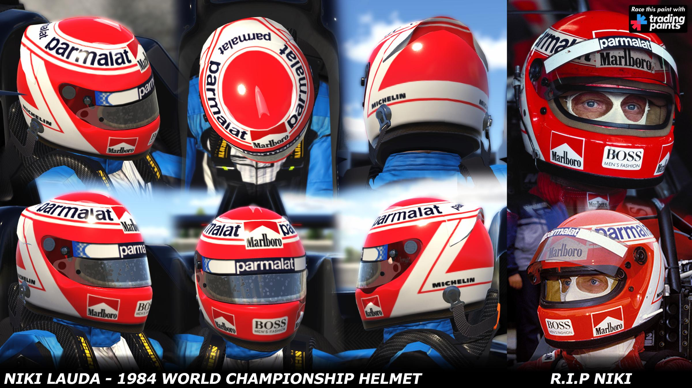 Preview of Niki Lauda - 1984 World Championship Helmet - R.I.P Niki by George Simmons