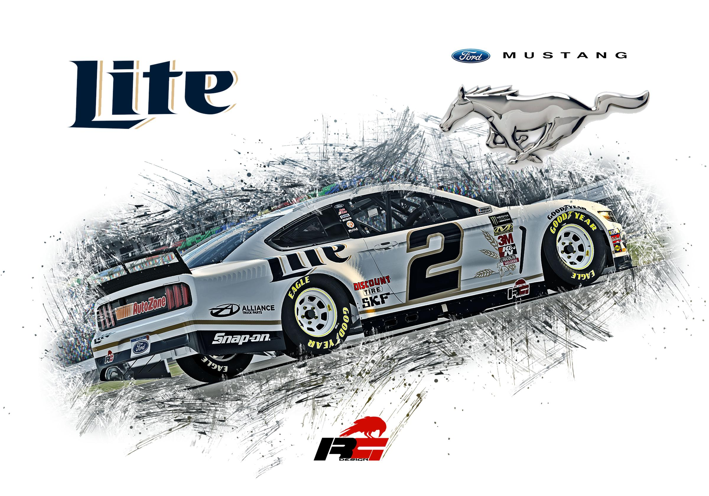 Preview of Miller Lite Ford Mustang Gen 6 2019 by Doyle Lowrance