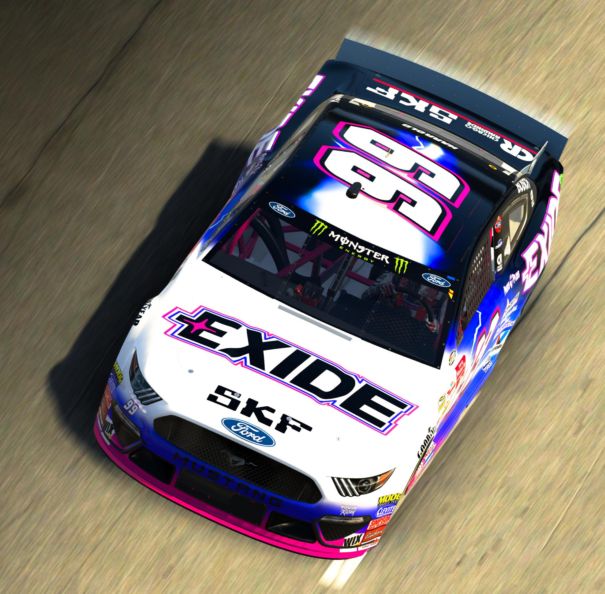 2000 JEFF BURTON EXIDE BATTERIES Ford Throwback Mustang by Corey H. - Trading Paints