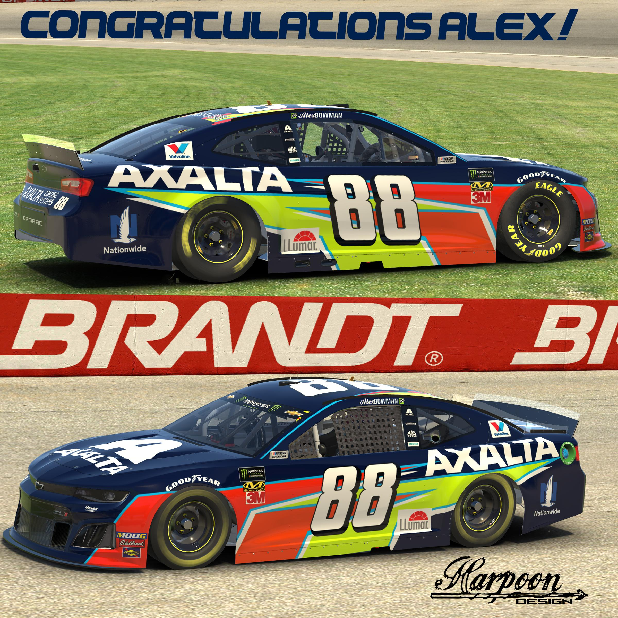 Preview of 2019 Alex Bowman Axalta First Win no num by Brantley Roden
