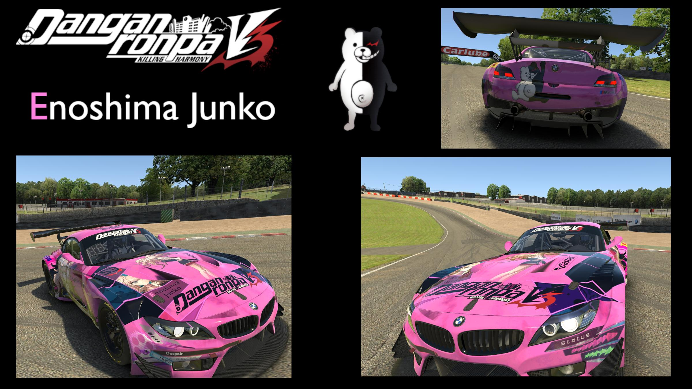 Preview of Enoshima Junko Danganronpa V3: Killing Harmony - BMW Z4 GT3 by Andrzej Frysiak