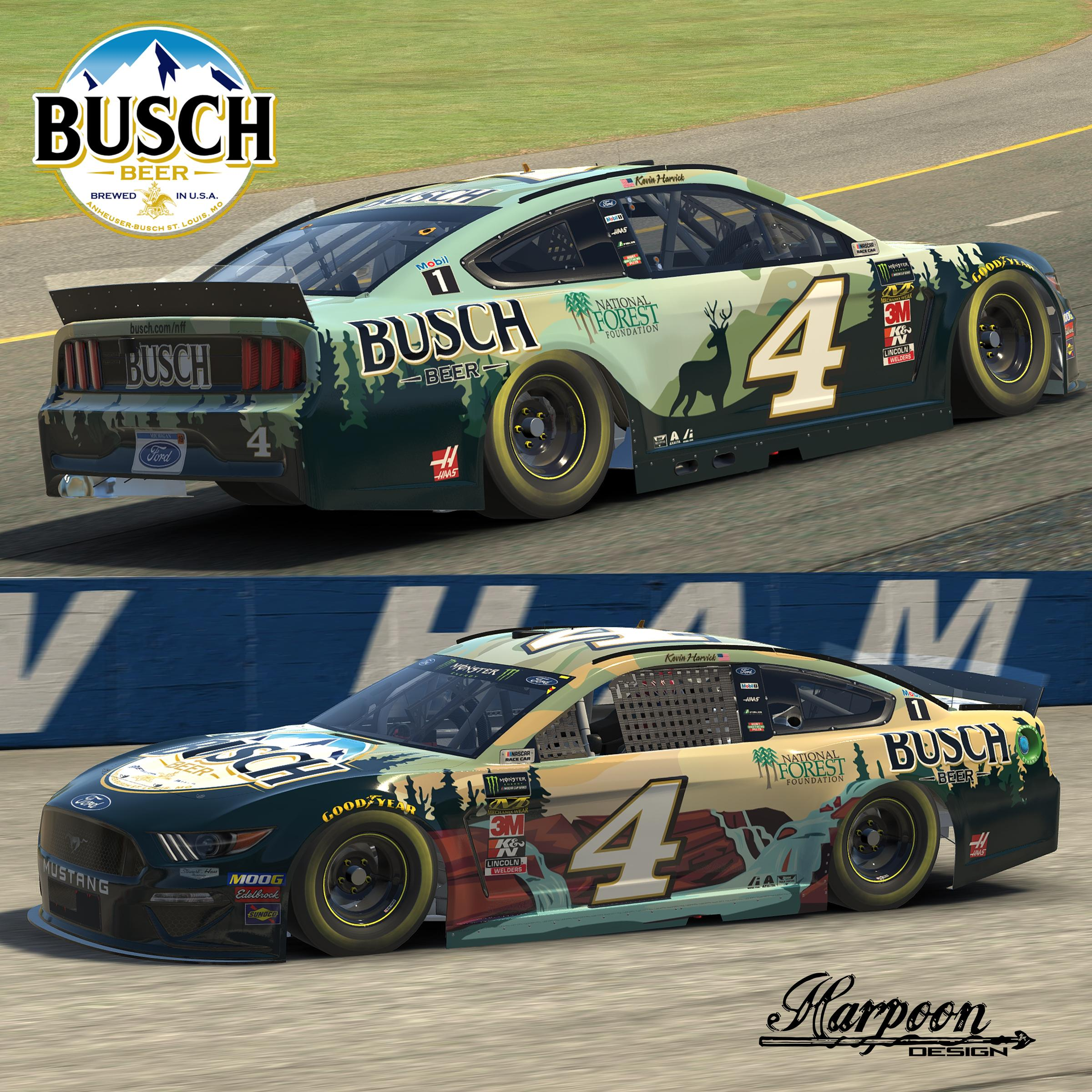 Preview of 2019 Kevin Harvick National Forest Foundation Mustang no num by Brantley Roden