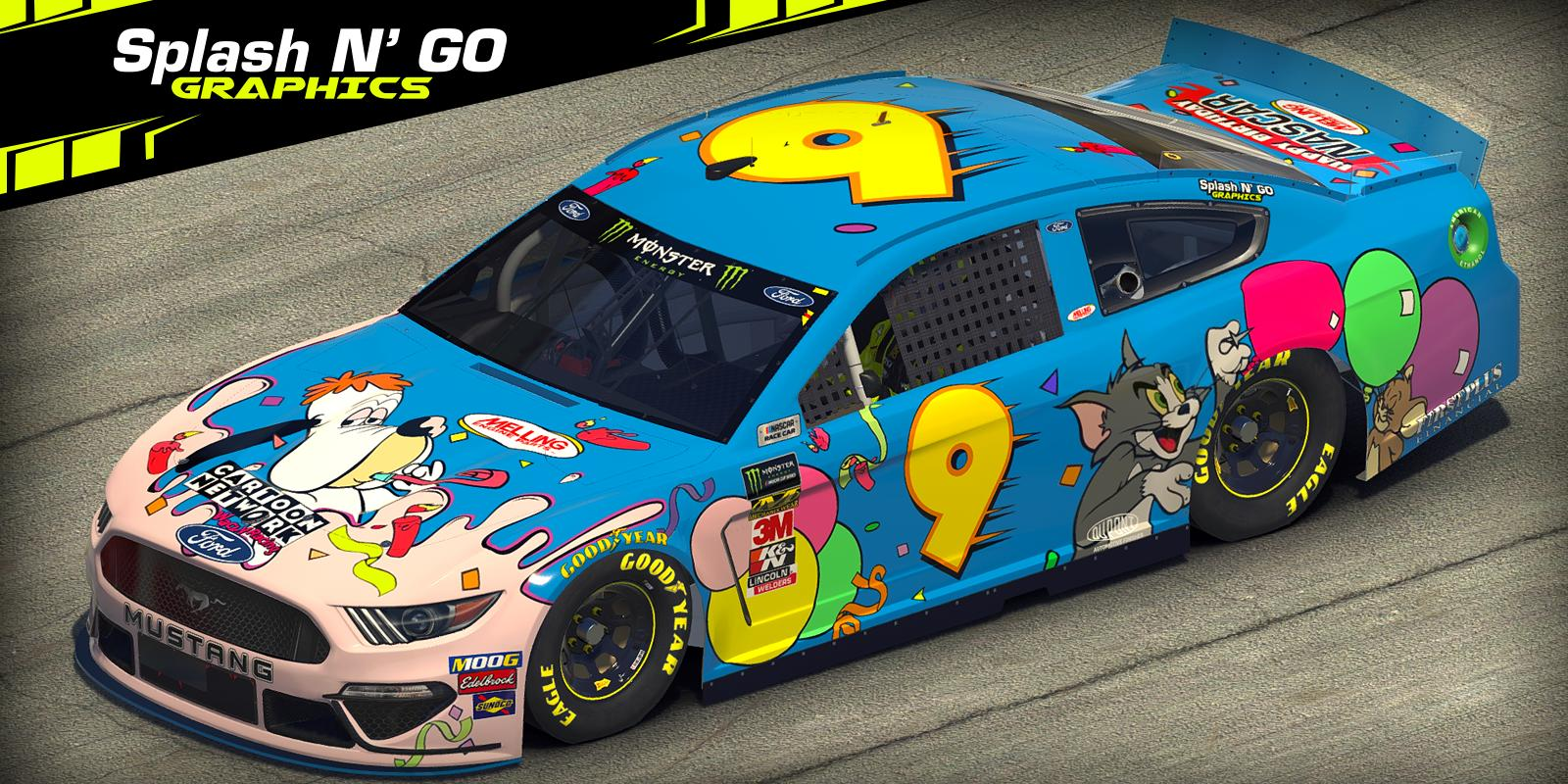 Preview of Cartoon Network Birthday Racing Mustang (Custom Number) by Robert W. Panko
