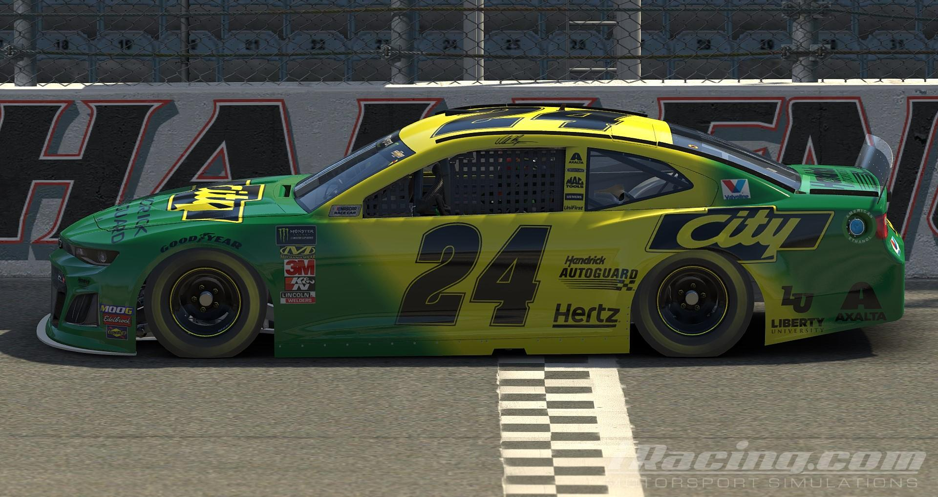 Preview of William Byron City Chevrolet Days of Thunder Throwback Chevrolet Camaro ZL1 Gen 6 by Nicholas Doucette