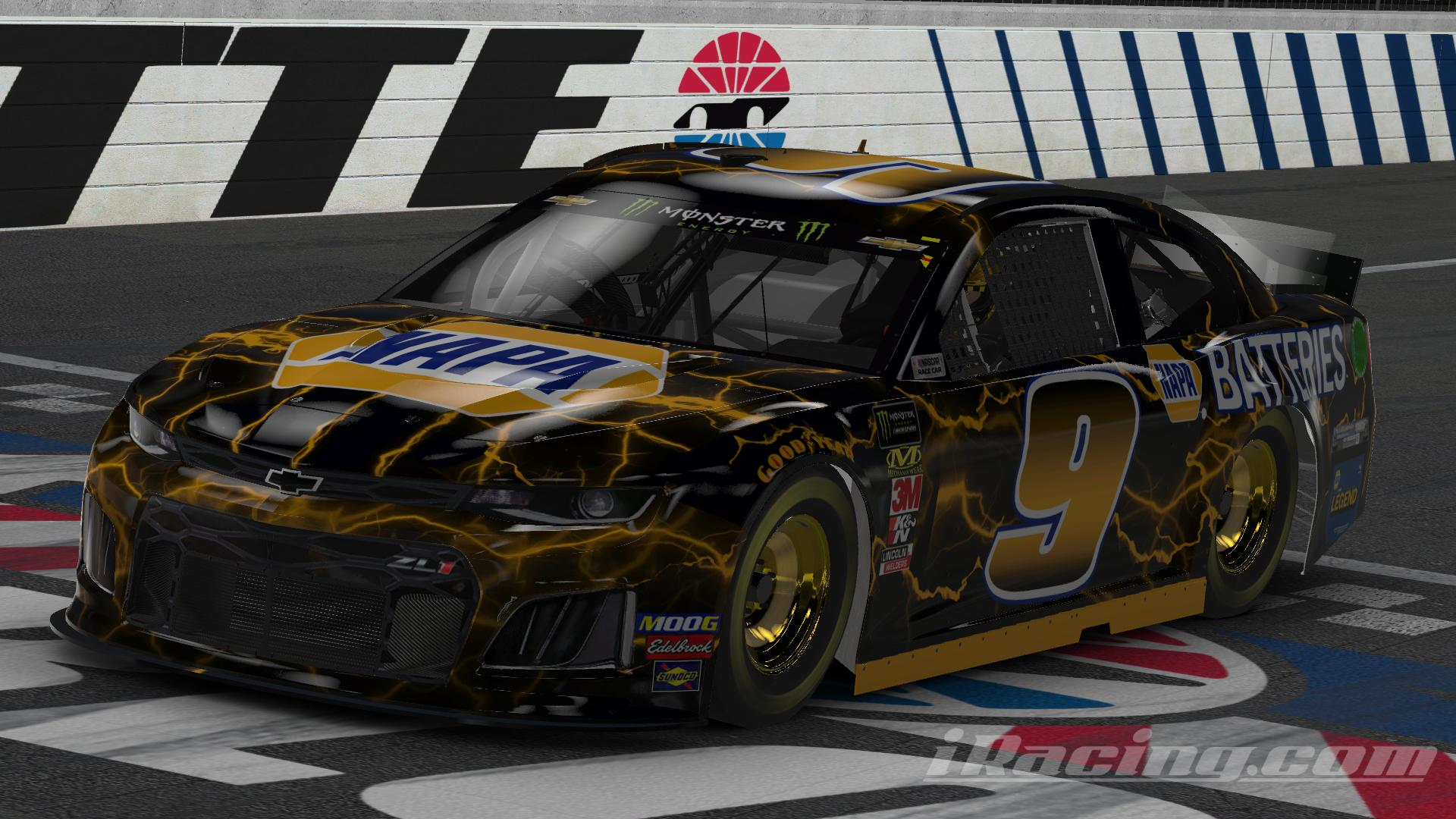 Preview of NAPA Chase Elliott Legend Battery Black Car (No #) by Chris T J.